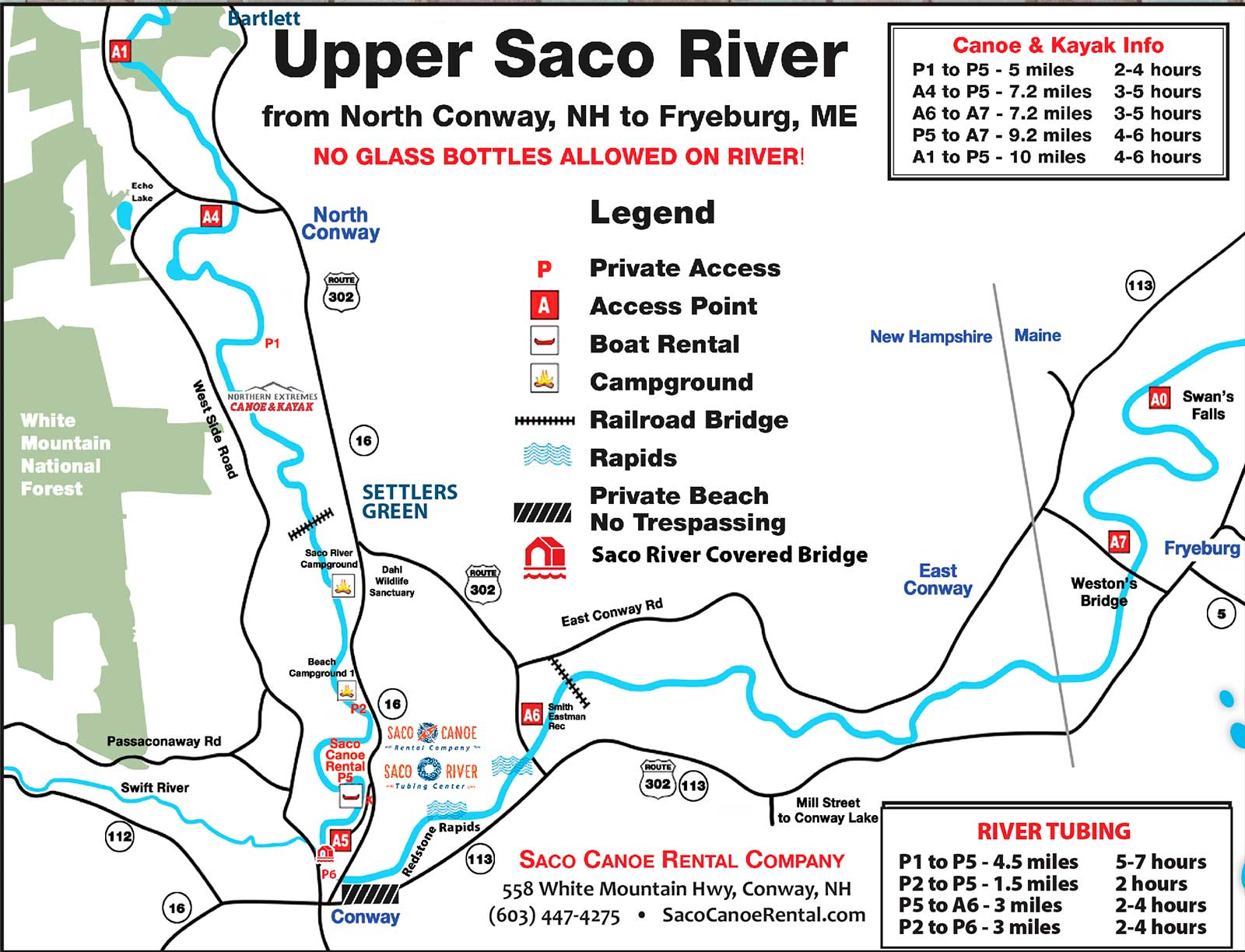 Saco River Map - Saco Canoe Rentals - New Hampshire Canoe, Kayak and on western pacific map, netflix map, cricket map,